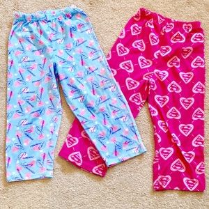 Other - Bundle - 2 Pairs Of Girls' Pajama Pants - size 4T